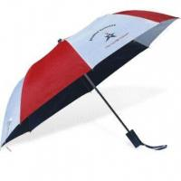 Buy cheap 2-fold Auto Open Umbrella with Zinc-plated Metal Ribs product