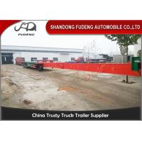 Buy cheap Fudeng Customized Extendable Low Bed Trailer Long Construction Machine Transport product