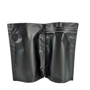 China Non Smell Black Matte Laminated Foil Stand Up Pouch on sale