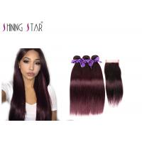 Buy cheap Unprocessed Straight Bundles With Closure / Comfortable Human Hair Extension Bundles product