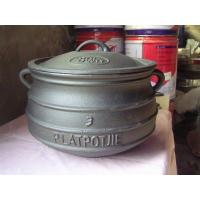 Buy quality Cast Iron Three-legged Plat Potjie Pot at wholesale prices