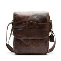 Buy cheap Cotton Lining Leisure Leather Shoulder Bag For Umbrella 22L * 7.5W * 27H Size from wholesalers