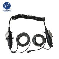 Buy cheap Male To Female Rear View Camera Cable 7 Pin Din Connector Spiral Trailer Cable from wholesalers
