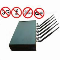 Buy cheap Adjustable High Power 6 Antenna WiFi GPS Cell Phone Jammer product