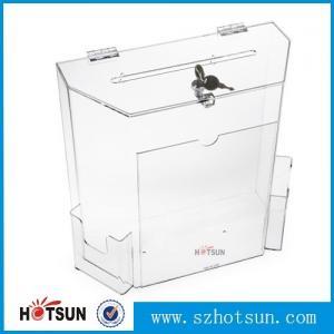 Buy cheap wholesale acrylic donation/ suggestion/ money box product