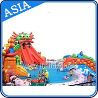 Buy cheap Outdoor  Commercial Inflatable Ground Water Park Slide with Pool , Moving Water Park product