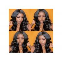 Buy cheap Pre Plucked Body Wave Lace Front Wigs Brazilian Hair 13 X 4 Big Closure product