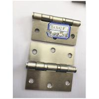 Buy cheap Flat Head 4 Inch Security Door Hinges Ball Bearing Golden Plated product