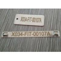 Buy cheap Antirust Cable Identification Tags , Stainless Steel Cable Labels With Lasering Numbers product