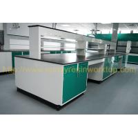 Glare surface school chemical lab Island bench solid anti high temperature