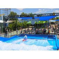 Buy cheap Most Popular Fiberglass Surfing Simulator Single Flow Ride With Waterproof Software Material from wholesalers