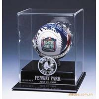 Buy cheap SGS Baseball Acrylic Display Stand Case / Sport Acrylic Advertising Display product