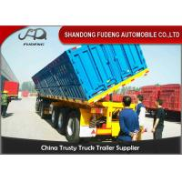 Buy cheap 3 Axle 60CBM 100Ton Side Dump Semi Trailer Use To Coal Mine With HYVA Lifting System product