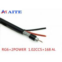 Buy cheap 168AL Braid RG6 Siamese Video with Power Monitor Wire Coaxial with Power CCTV Cable product
