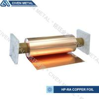 Buy cheap High Conductivity Surface Degreasing Copper Foil Roll , Tolerances ±0.001 product