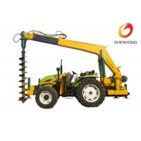 Buy cheap Tower Erection Tools 100HP Tractor Mounted Digger Machine With Crane / Auger product