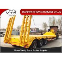Buy cheap Tri Axle Low Bed Semi Truck Trailer For Sale 60 Ton Heavy Machine Transport product