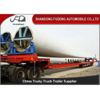 Buy cheap Steel Extendable Lowboy Trailer For 18 / 46 / 56 Meters Windmill Turbine Blade product