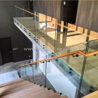 Buy cheap Safety Frameless Toughened Glass Railing withStainless Steel Standoff product