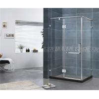 China 180 Degree Stainless Hinge Shower Enclosures  Rectangle With Support Bar 8 MM Tempered Glass on sale