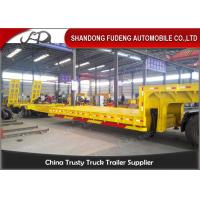 Buy cheap 3 Axles Warranty Extendable Lowboy Trailer High Strength Steel Material product