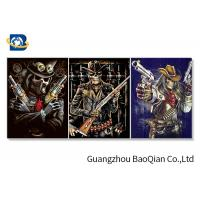 Buy cheap Flipped Customized 3D Framed Picture Of Animation Cool Skeleton For Indoor Decoration product