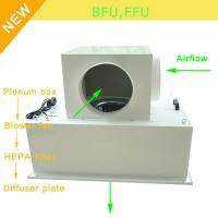 Buy cheap Low Noise 65bBA Clean Room Blower Fan Filter With Large Airflow 0.35 - 0.75m/S from wholesalers