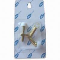 Buy cheap Hinge Pin Door Stop with Brass Plating, Easy and Safe to Use product