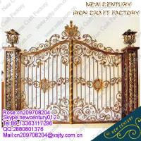 Buy quality 2015 good sell wrought iron gates/ornamental wrought iron gates/european wrought iron gates at wholesale prices