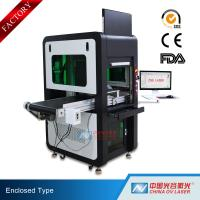 Buy cheap High Precision Big Enclosed Fiber Laser Marking Machine 100W with Conveyor product
