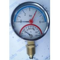 Buy cheap 3 Inch Bottom steel case Temperature pressure gauge with 1/2 inch connector product