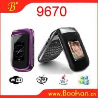 Buy cheap 9670 Flip WIFI TV Mobile Phone with Optical Mouse from wholesalers