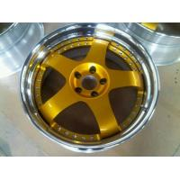 BSL16/Gold Paint center disk wheels/3 piece forged wheels for Acura/step outer lip polish