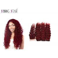 Buy cheap Non Remy Water Wave Weave Human Hair / Red Water Wave Weave With Closure product