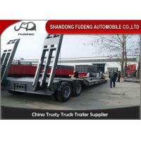 Buy cheap 2 Axles Removable Gooseneck Low Bed Trailer , Heavy Machine Lowbed Trailer product