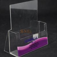 Buy cheap Single Layer Clear Acrylic Brochure Holder product