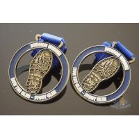 Buy cheap Zinc Alloy Cut Out Sports Metal Medal / Personalised Running Medals from wholesalers