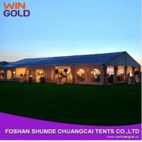 Buy quality 2015 Hot Sale Aluminum 20m Wholesale Waterproof Canvas Tent,Outdoor wedding tent at wholesale prices