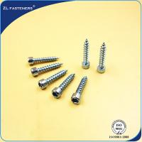 Buy cheap Customized Zinc Plated Steel High Tensile Screws OEM / ODM Acceptable product