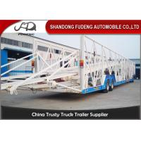 Buy cheap Double Level Mechanical Car Transporter Trailer Open Design Three Axles product