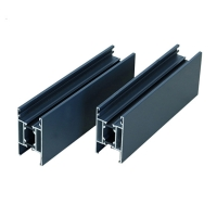 Buy cheap 0.8-5.0mm 6063 T5 Blue Powder Coated Aluminium Extrusions Profiles For Doors Frame product