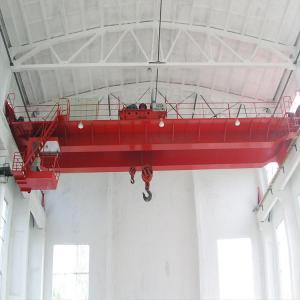 China Custom Double Hoist Overhead Crane , 12 / 14m Workstation Bridge Crane on sale