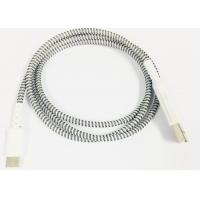 Buy cheap Micro / Lightning / Type-C Grey Plastic Head Braided High Gloss Braided Charging & Sync Cable product