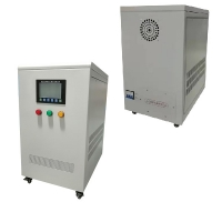 China LCD Display Coil AC Metallic 30KVA Industrial Automatic Compensated Voltage Stabilizer on sale