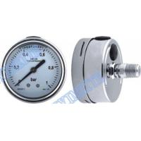 Buy cheap Stainless steel connector welding pressure gauge filled oil with shrink bayonet bezel product
