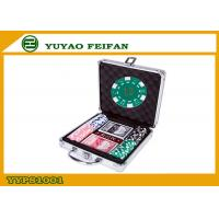 100pcs ABS Poker Chips / Gameland Poker Chips Set With Aluminum Metal Case Manufactures