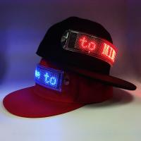 China Flashing scrolling message LED cap which canbe changed the message by client's phone on sale