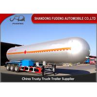 Buy cheap 10 Wheelers LPG LNG Fuel Transfer Trailer 3*13 Ton FUWA Axles Carbon Steel Tank product