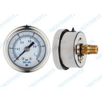 """Buy cheap 50mm Precision pressure gauge with 1/4"""" connector and stainless steel bayonet bezel product"""