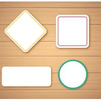 Buy cheap Self Adhesive Blank Sticker Labels , Customized Blank Mailing Address Labels product